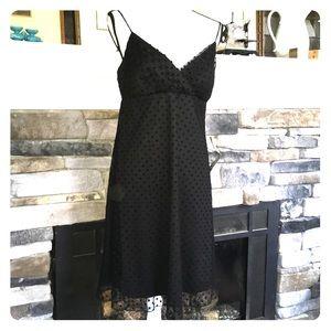 Semi-formal black polka dot dress 10 NWT